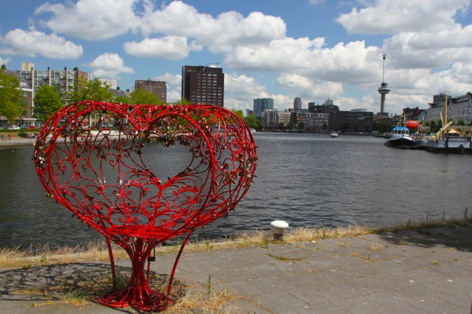 Lock of Love art installation, Rotterdam, Netherlands