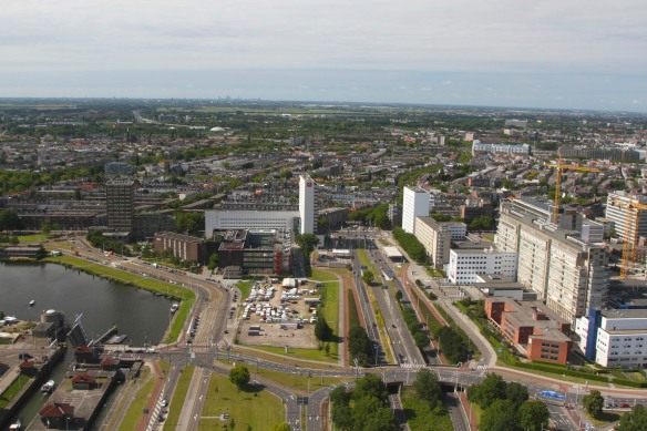 Views towards The Hague from the Euromast, Netherlands