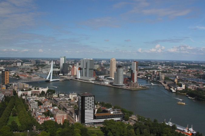 Views over Rotterdam from the Euromast, Netherlands