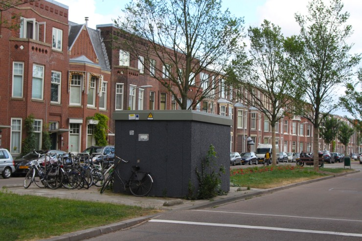A normal electricity sub-stations, The Hague, Netherlands