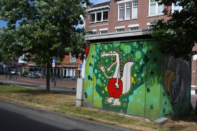 Public art on electricity sub-stations, The Hague, Netherlands