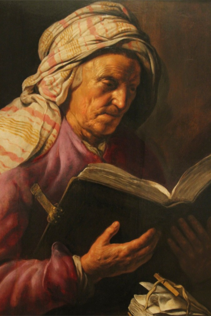 Old Woman Reading a Book by Jan Lievans, Lakenhal, Leiden, Netherlands