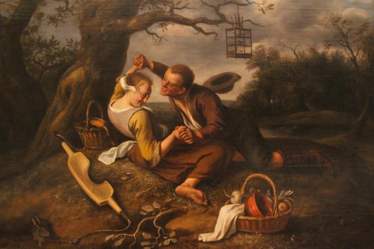 Merry Couple by Jan Steen, Lakenhal, Leiden, Netherlands