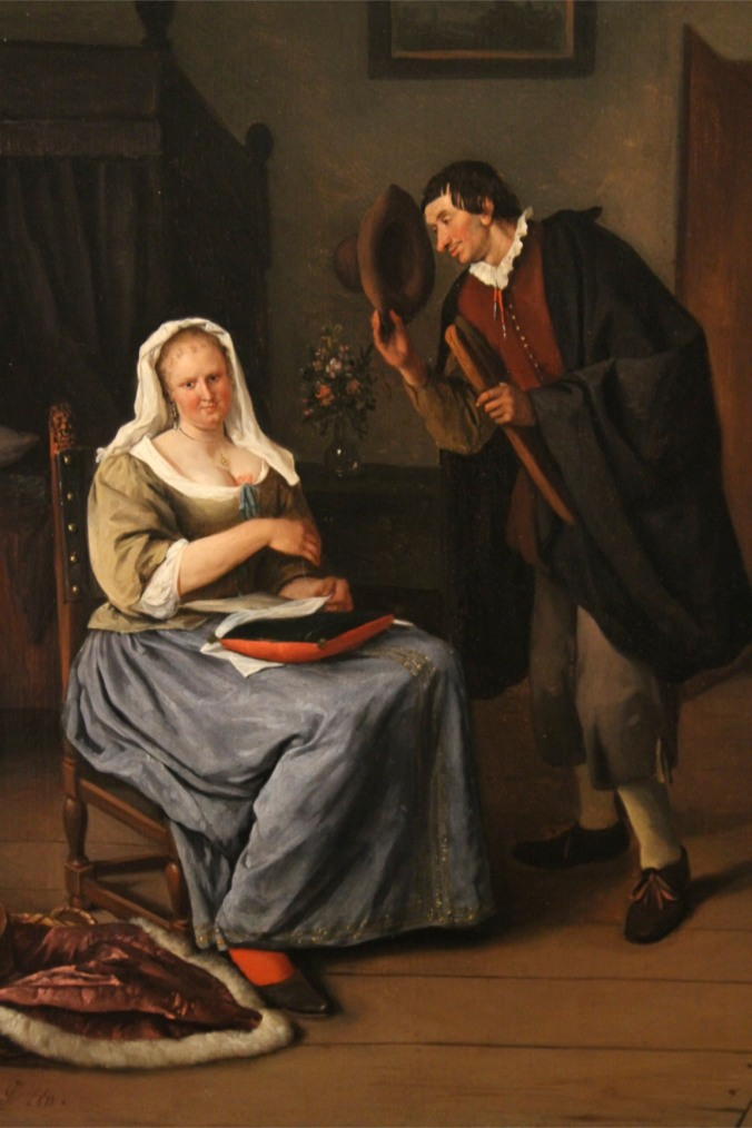 The Inappropriate Proposal by Jan Steen, Lakenhal, Leiden, Netherlands