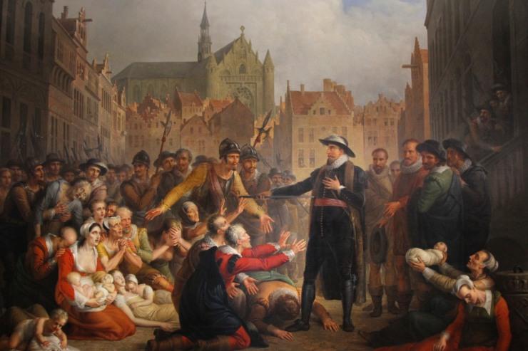 The Self-Sacrifice of Mayor Pieter van den Werf by Matthijs van Bree, 1817