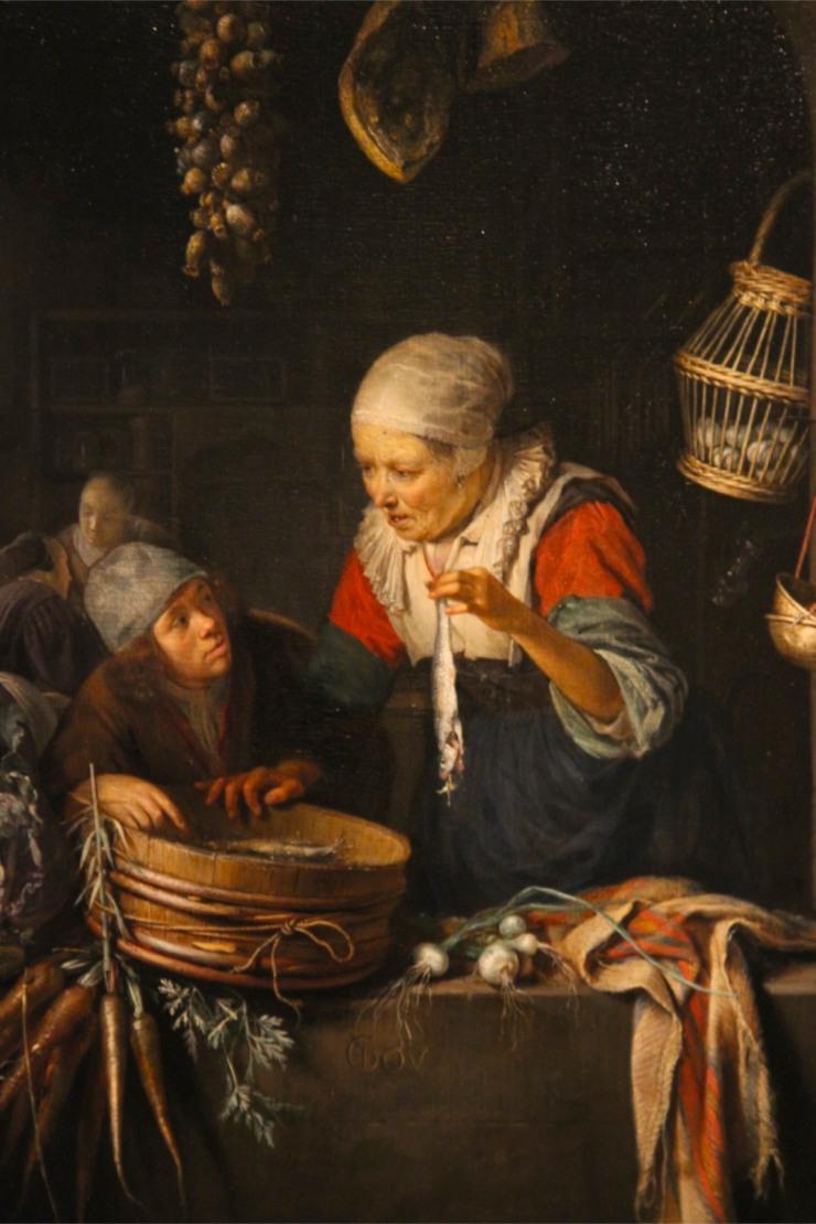 Herring Seller and Boy, by Gerrir Dou, Lakenhal, Leiden, Netherlands