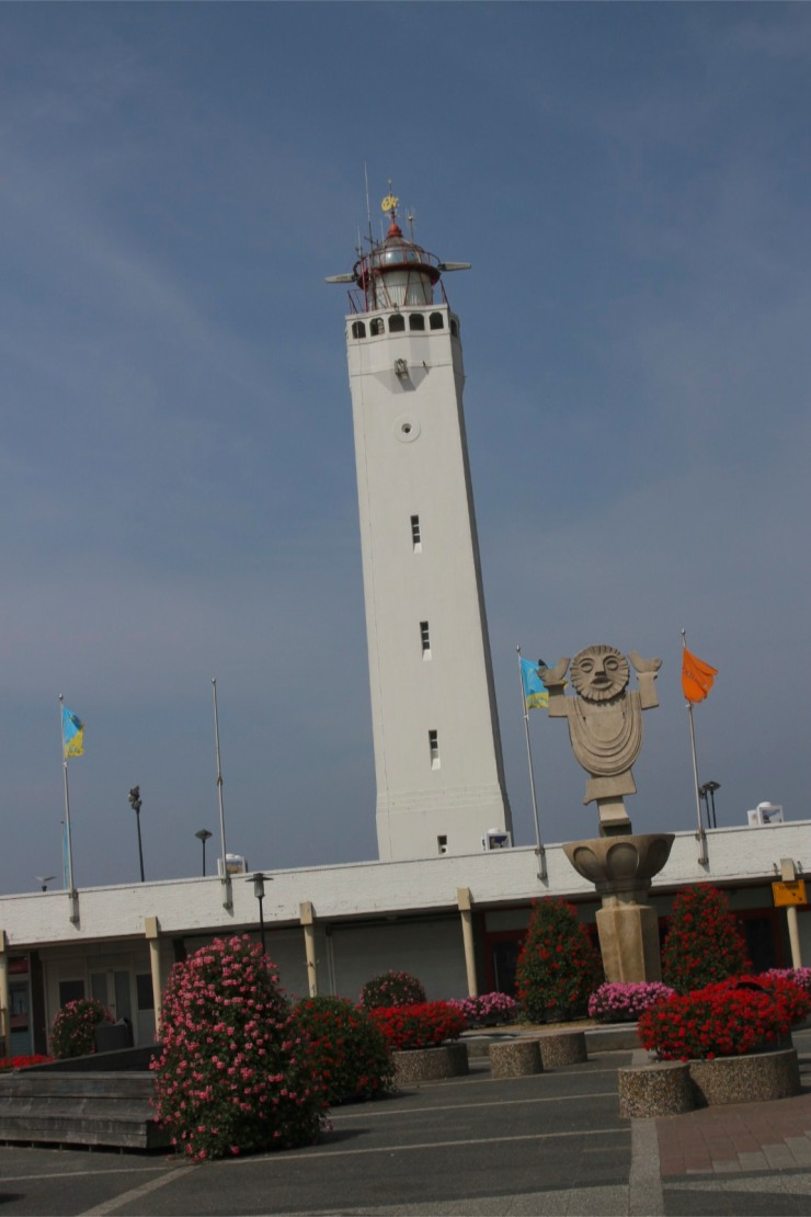 Lighthouse in Noordwijk, North Sea Coast cycle route, Netherlands