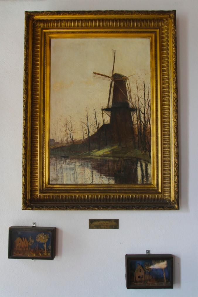 Windmill painting, De Valk windmill, Leiden, Netherlands