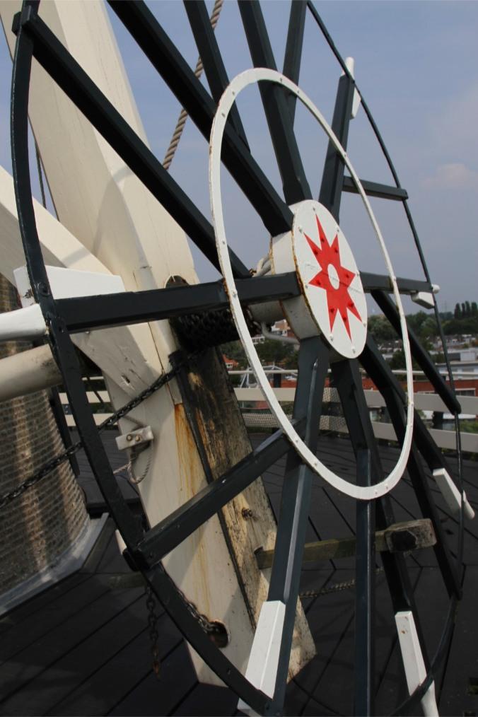 Steering wheel, De Valk windmill, Leiden, Netherlands