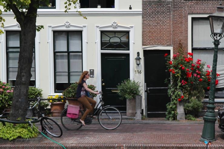 Cyclist, Leiden, Netherlands
