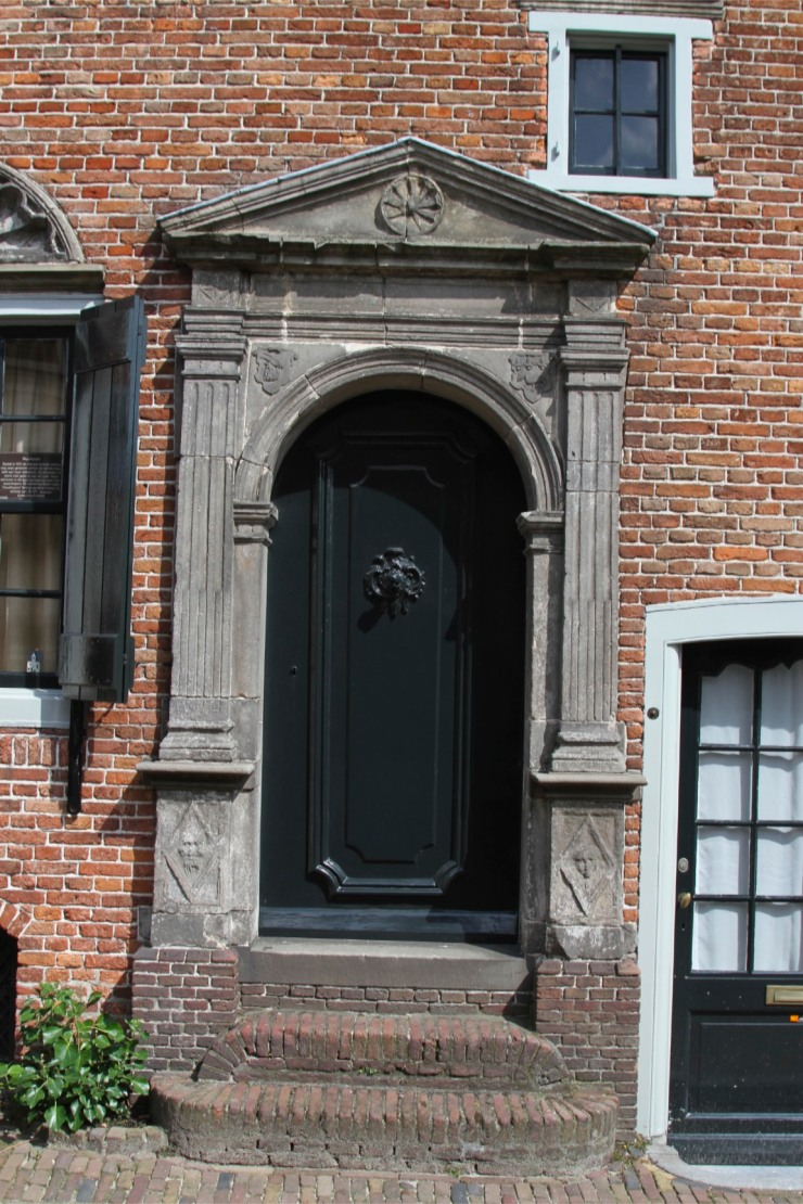 Doorway in medieval town centre, Amersfoort, Netherlands