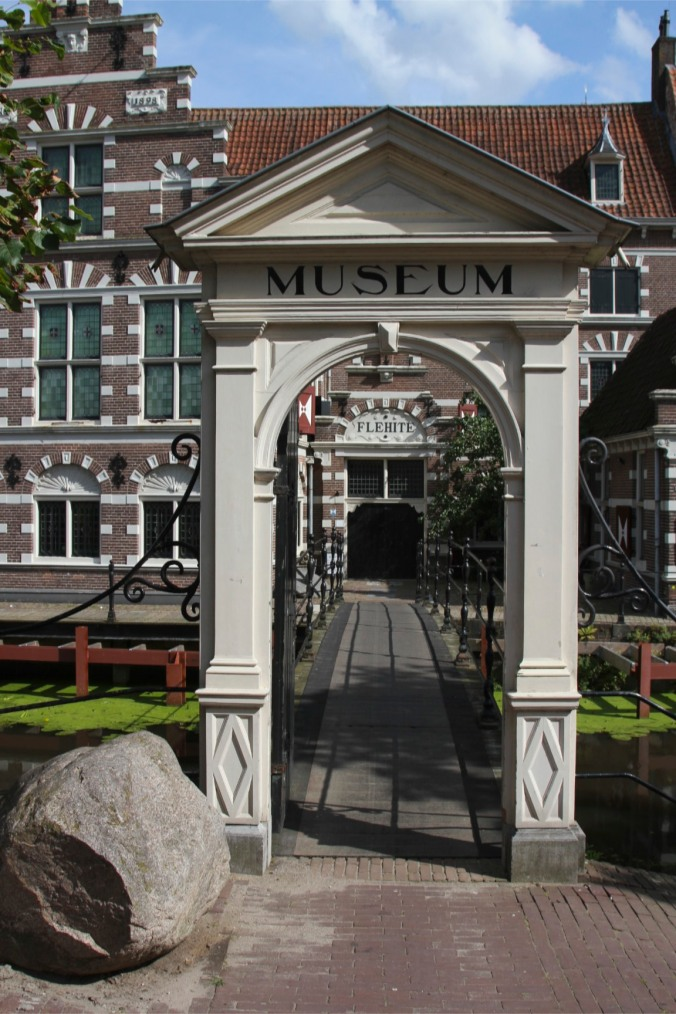 A boulder by the Flehite Museum, Amersfoort, Netherlands
