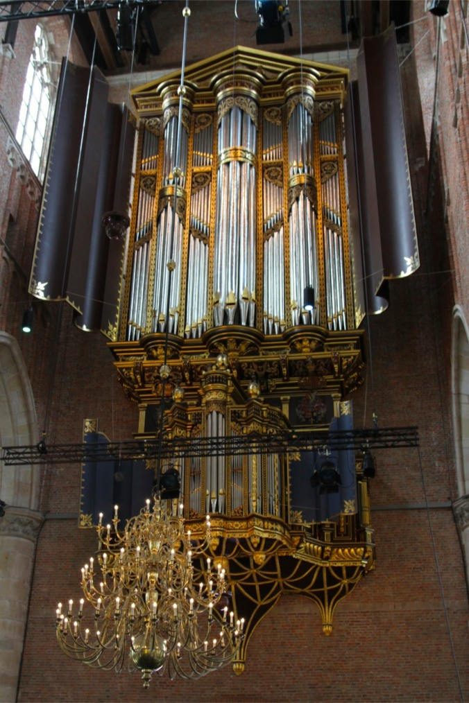 Organ in St. Pieterskerk, Leiden, Netherlands