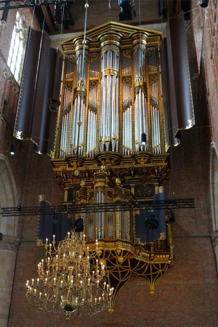 Organ in St. Pieterskerk, Leiden, Netherlands