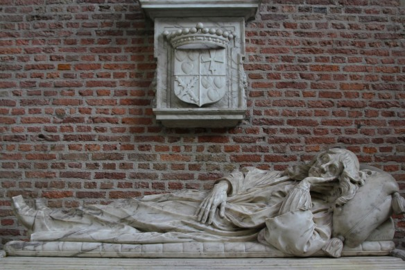 Grave in St. Pieterskerk, Leiden, Netherlands