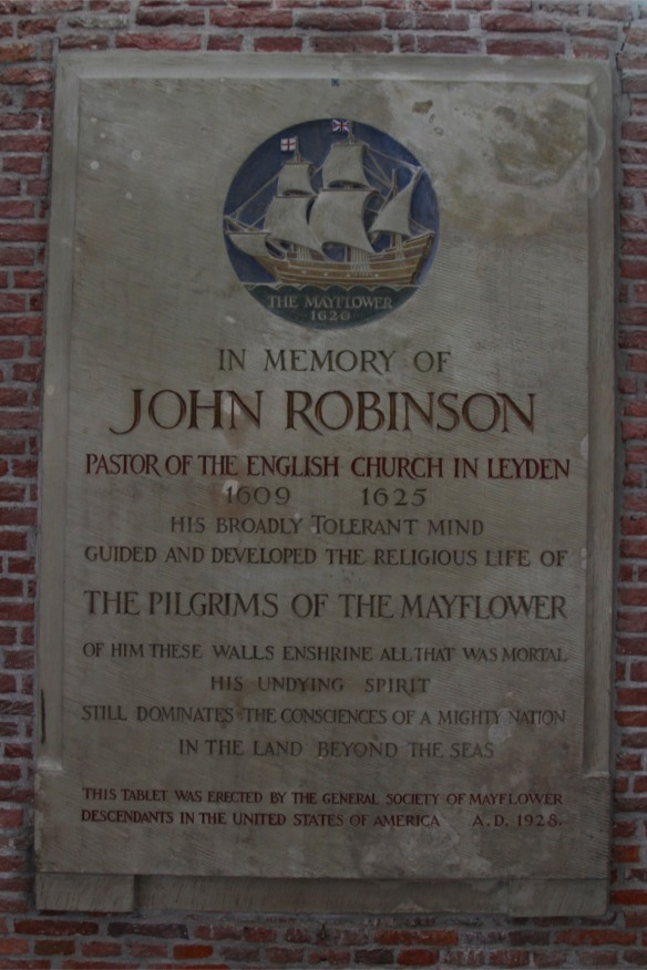 Memorial to John Robinson, St. Pieterskerk, Leiden, Netherlands