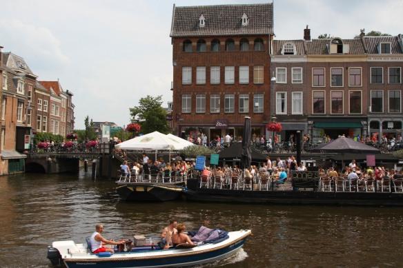 Floating restaurant, Leiden, Netherlands
