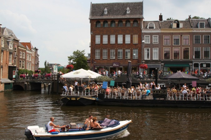 Floating restaurant, Leiden, Netherlands