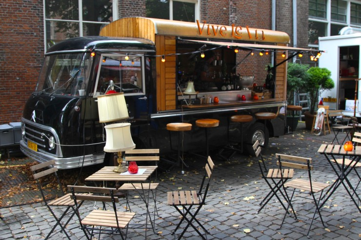 Pop up restaurant, Leiden, Netherlands