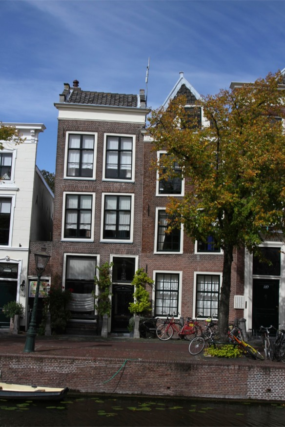 Houses and canal, Leiden, Netherlands