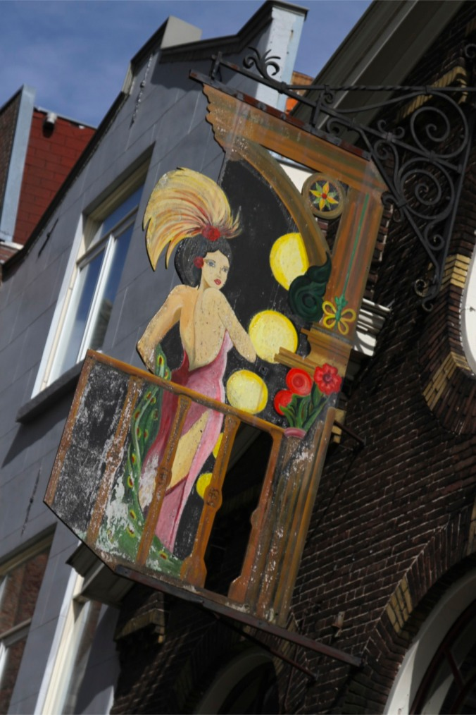 Sign for a bar, Leiden, Netherlands