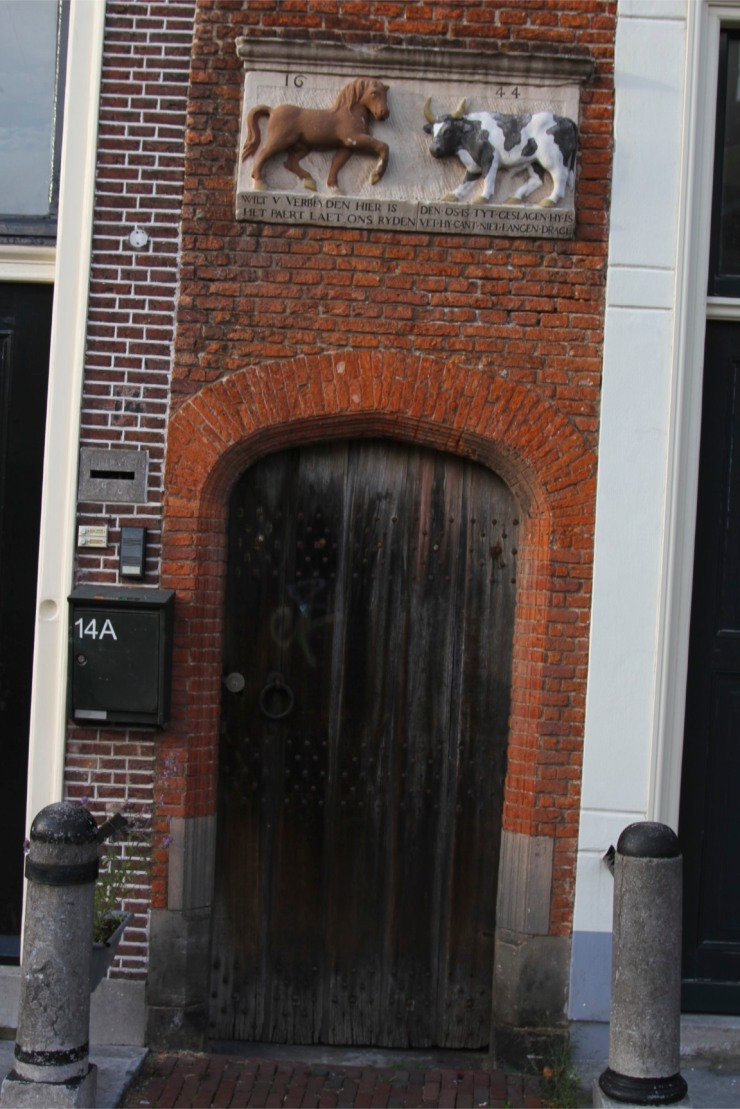Old doorway, Leiden, Netherlands