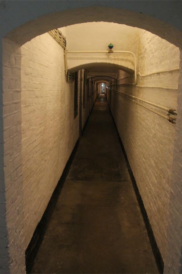 Corridor in Fort 1881, Atlantic Wall at Hook of Holland, Netherlands