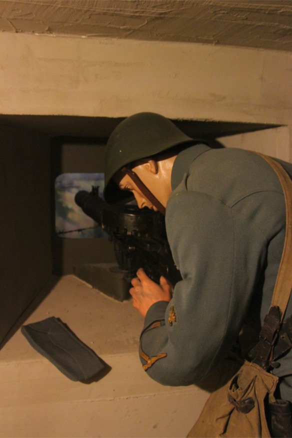 Mannequin in Fort 1881, Atlantic Wall at Hook of Holland, Netherlands