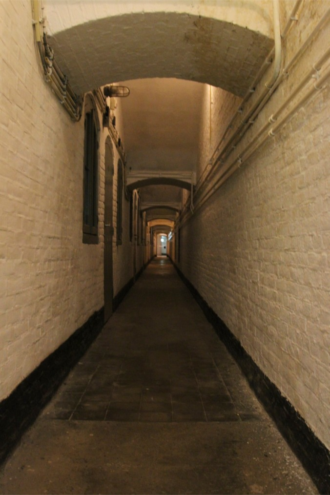 Corridor in Fort 1881, Atlantic Wall at Hook of Holland, Netherlands