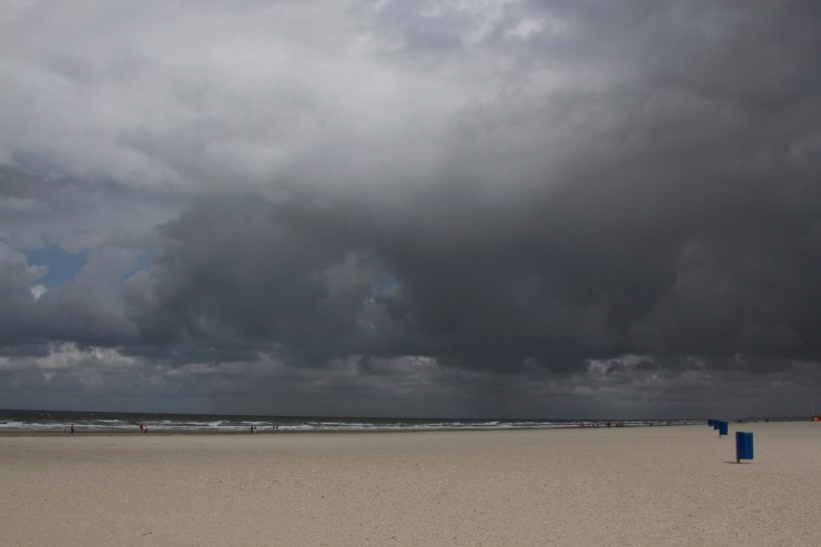 Beach and North Sea at the Hook of Holland, Netherlands