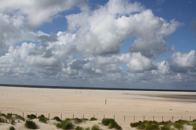 Beach on North Sea Coast, Netherlands