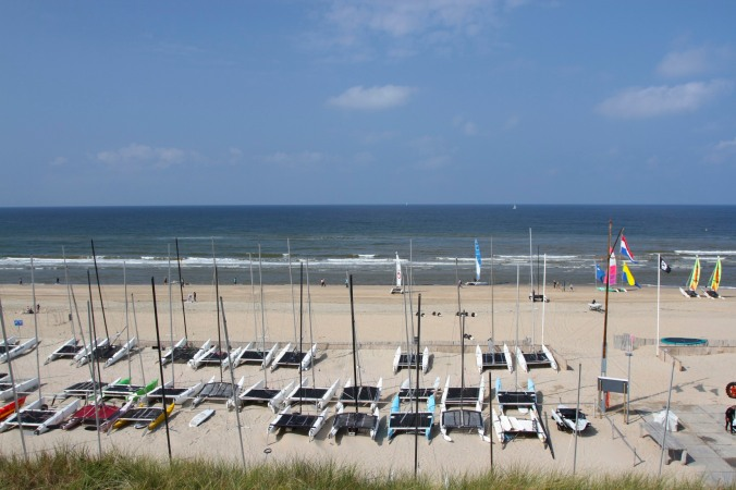 The beach at Zandvoort, Netherlands