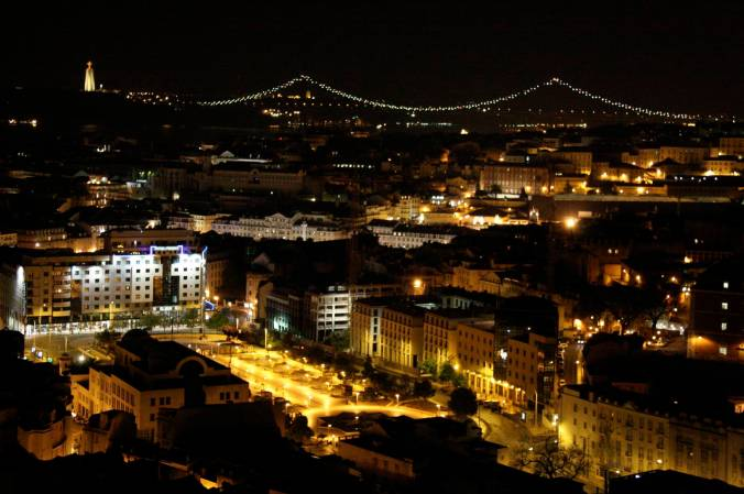 Lisbon at night, Lisbon, Portugal