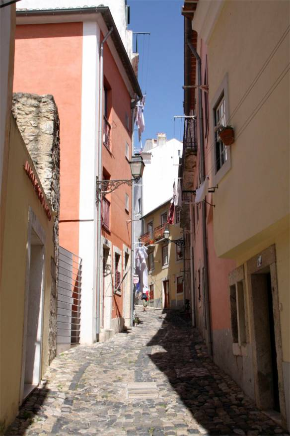 Street in Street in the Alfama District, Lisbon, Portugal, Portugal