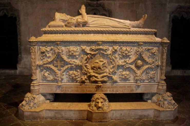 Vasco de Gama's tomb, Mosteiro dos Jerónimos, Lisbon, Portugal