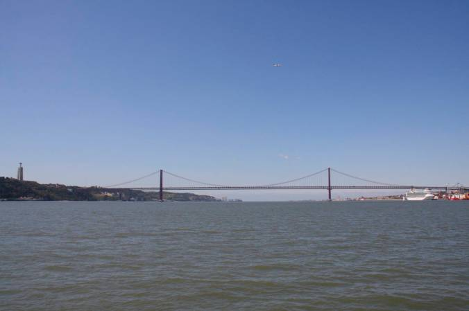Ponte 25 de Abril over the Rio Tejo, Lisbon, Portugal