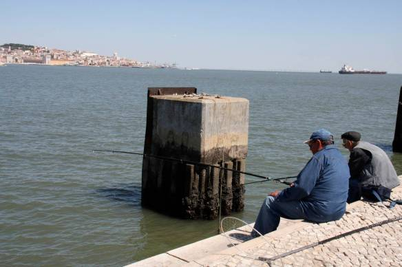 Fishermen in Cacilhas, Lisbon, Portugal