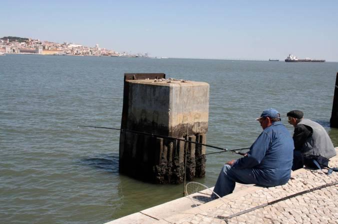 Fishermen in Cacilhas, Lisbon, Portugal
