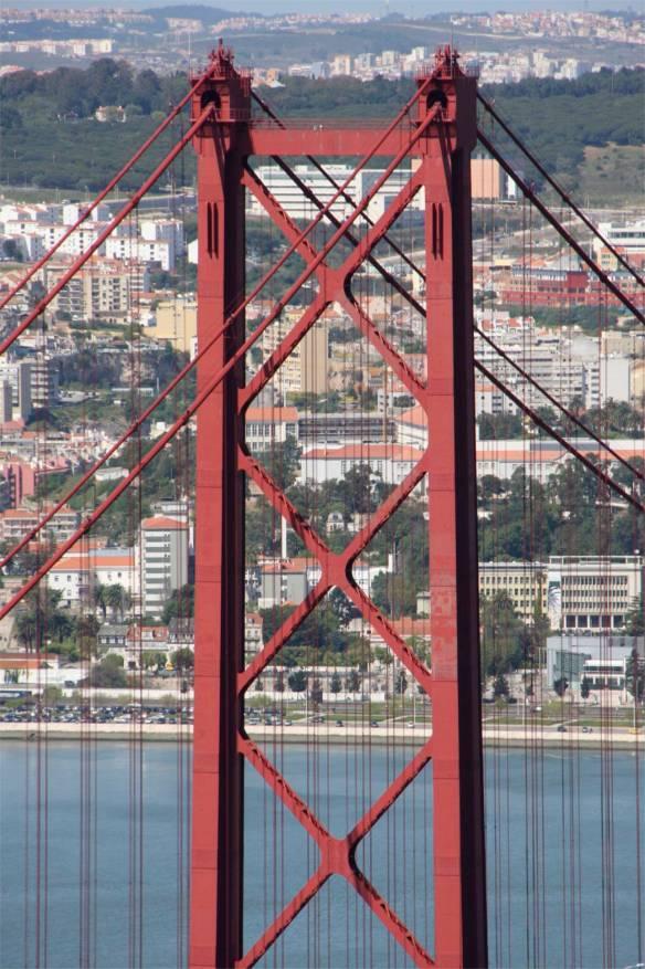 Ponte 25 de Abril over the Rio Tejo, Lisbon, Portugal