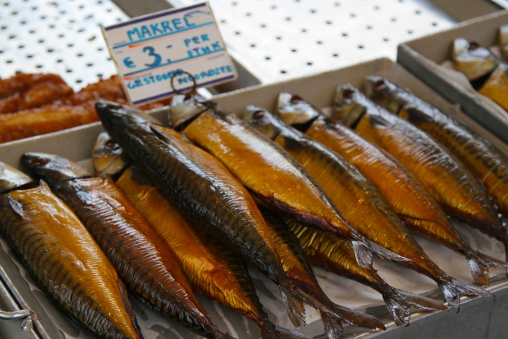 Mackerel in the market, Leiden, Netherlands