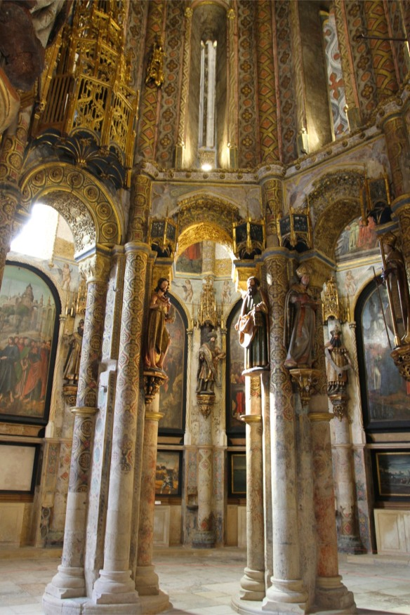 Charola Church, Convento de Cristo, Knights Templar fortress at Tomar, Portugal