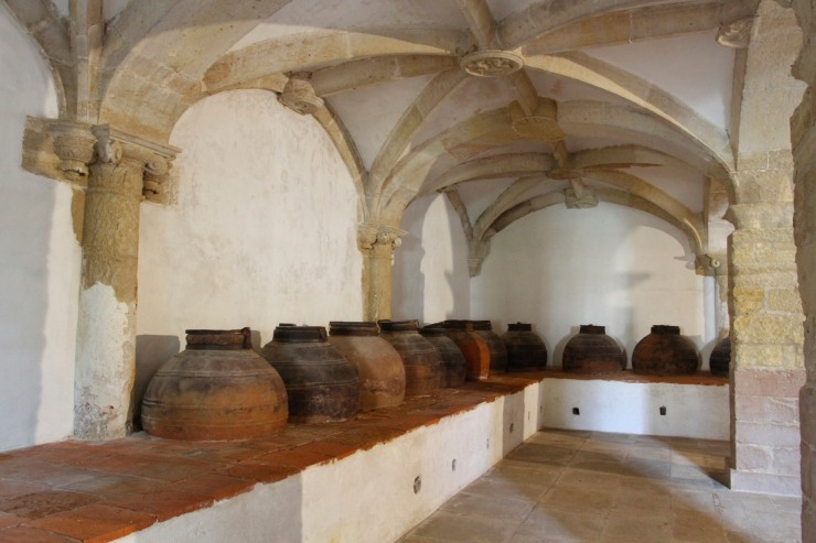 Oil jars, Convento de Cristo, Knights Templar fortress at Tomar, Portugal