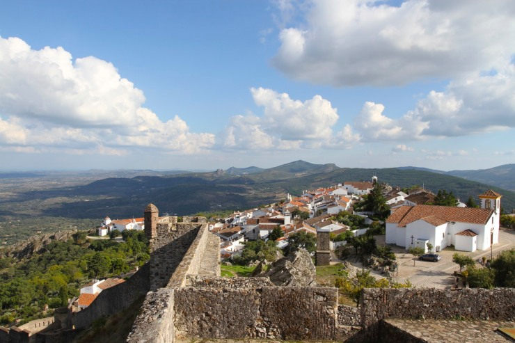 View over Marvao from the castle, Portugal