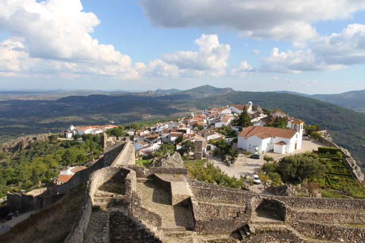 The view over Marvão from the castle, Portugal