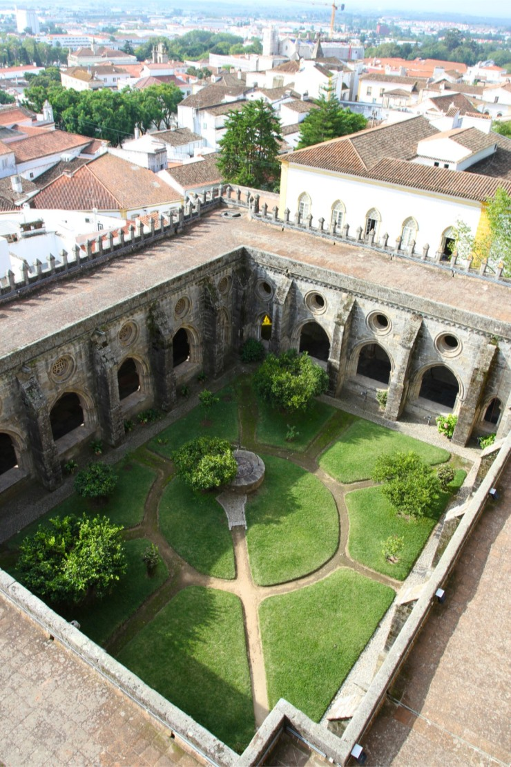 View from the roof of Évora Cathedral, the Sé de Évora, Portugal