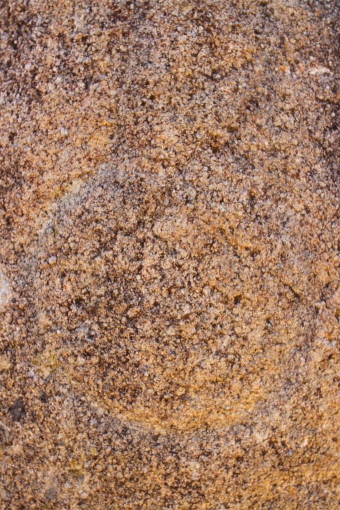 Circular stone carving, Cromeleque dos Almendres, Evora, Portugal
