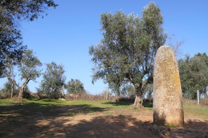 Menhir Dos Almendres, Evora, Portugal