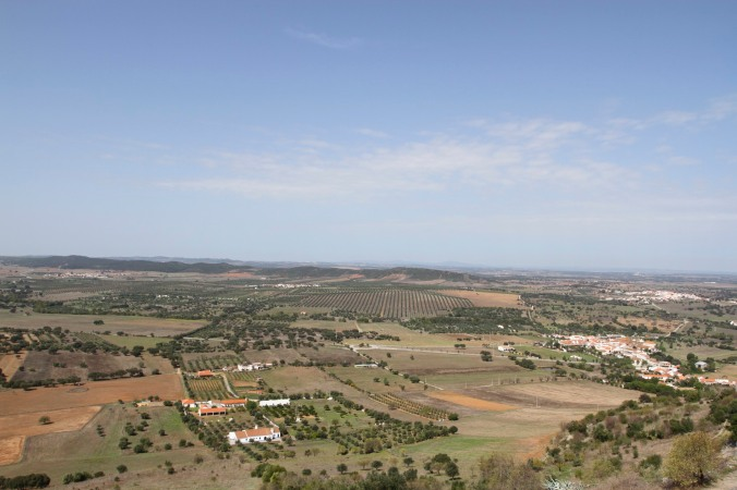 Views from the hill top village of Monsaraz, Portugal