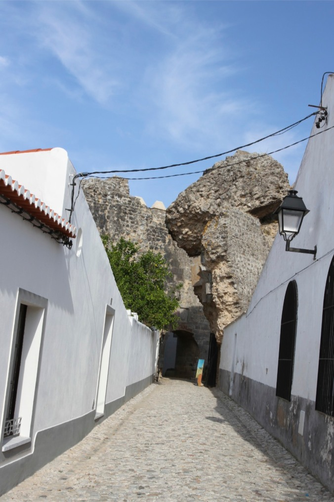 Entrance into the castle, Serpa, Alentejo, Portugal