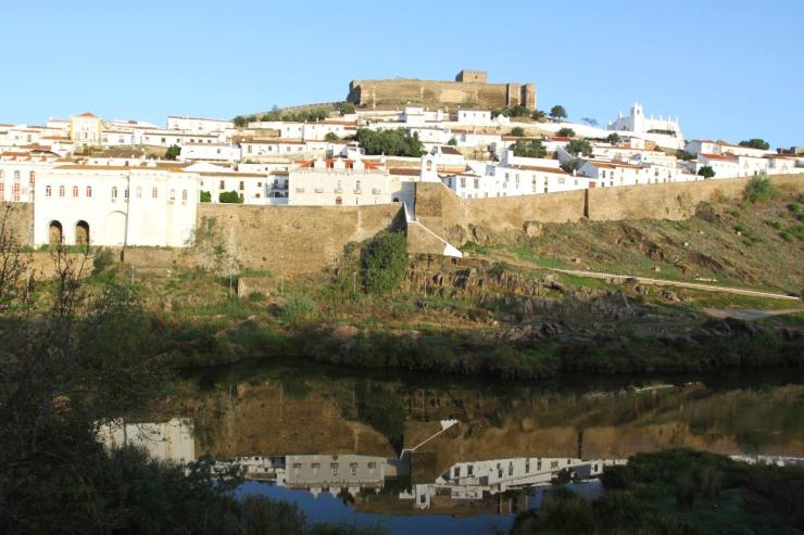 Mertola and the Rio Guardiana, Portugal